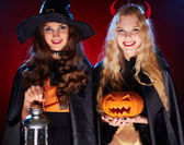Happy witches — Stock Photo