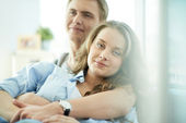 Amorous young couple enjoying rest — Stock Photo
