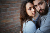 Female in her sweetheart embrace — Stock Photo
