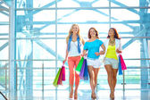 Girls in the mall — Stock Photo