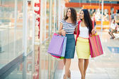 Shoppers in the mall — Stock Photo