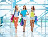 Walking in the mall — Stock Photo