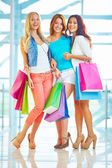Joyful shoppers — Foto Stock
