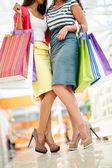 Nakupující nohy — Stock fotografie