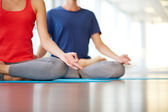 Yoga practice — Stock Photo