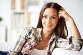 Casual brunette — Stock Photo