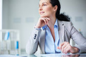 Pensive businesswoman — Stock Photo