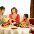 Traditional Thanksgiving dinner — Foto Stock