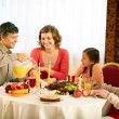Traditional Thanksgiving dinner — Stockfoto