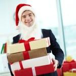 Businessman in Santa cap — Stock Photo #36816811