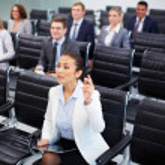 Competent businesswoman — Stock Photo