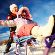 Kids in winterwear having happy time — Stock Photo #36816775