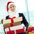 Businessman in Santa cap — Stock Photo #36816811
