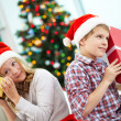 Foto de Stock  : Kids with gifts
