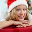 Youngster with gift — Stock Photo #36816873