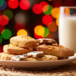 Cookies and milk — Stok fotoğraf
