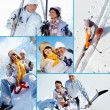 Stock Photo: Happy seniors in winter