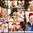 Stock Photo: Happy family at home on Christmas Eve