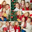 Happy family on Christmas day — Stock Photo #36817157
