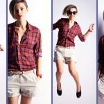 Collage of a stylish woman — Stock Photo
