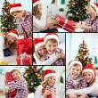 Christmas siblings — Stock Photo