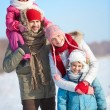 Stock Photo: Winter family