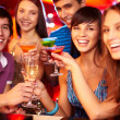 Cheering friends toasting — Stock Photo