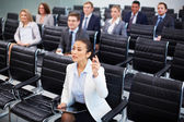 Competent businesswoman — Stock Photo