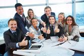 Glückliche mitarbeiter — Stockfoto