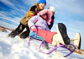 Winter recreation — Stock Photo