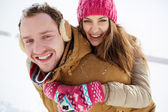 Young dates in winter — Stock Photo