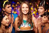 Birthday celebration — Stock Photo