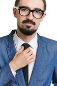 Attractive male in formalwear and eyeglasses — Stock Photo