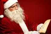 Santa con lettera — Foto Stock
