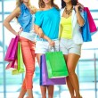 Three shoppers — Foto Stock