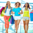Girls in the mall — Foto Stock