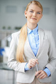 Elegant business lady — Stock Photo
