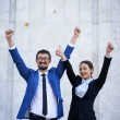 Business triumph — Stock Photo