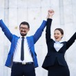 Stock Photo: Successful businesspeople