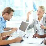 ondernemers op vergadering — Stockfoto