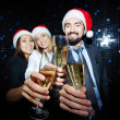 Business partners toasting with champagne — Stock Photo