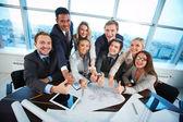 Tevreden medewerkers — Stockfoto