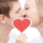 Amorous couple kissing — Stock Photo #38919851