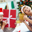Kids with gifts — Foto de Stock