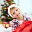 Boy with Christmas present — Stock Photo #38915981