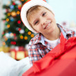 Boy with Christmas present — Stock Photo #38915987