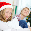 Siblings on Christmas — Stock Photo