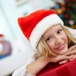 Youngster with gift — Stock Photo