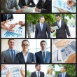Stock Photo: Collage of business partners