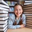 Happy schoolgirl — Stock Photo